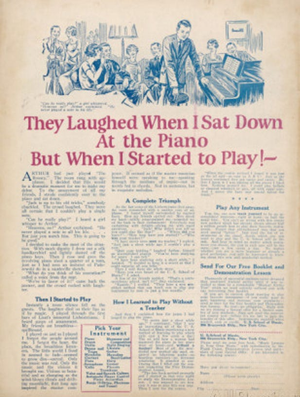 הם צחקו עלי כשהתיישבתי ליד הפסנתר